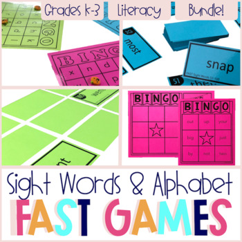 FAST Sight Word Printable Games - The Bundle!