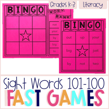 FAST Sight Words 101-150 Printable Games