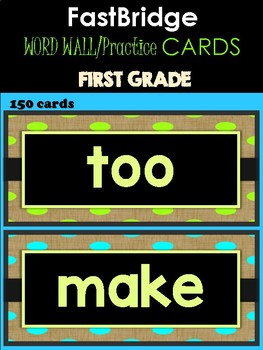 FASTBRIDGE 1st Grade Practice Cards - with Bonus Kindergarten Words
