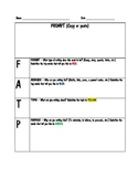 FAT-P Writing Prompt Organizer
