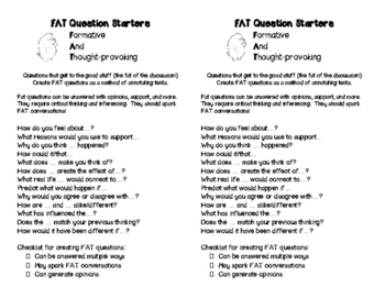 FAT Questions Handout