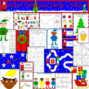 FATHER CHRISTMAS NEEDS A WEE book study- Nicholas Allan
