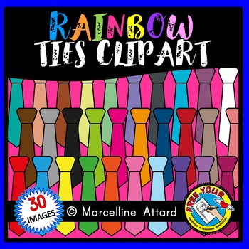 FATHER'S DAY CLIPART: RAINBOW TIES CLIPART