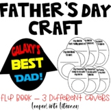 FATHER'S DAY CRAFT WRITING BOOK GALAXY'S BEST DAD STAR WARS DIFFERENT COVERS