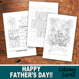 FATHER'S DAY Color-In Cards - Happy Father's Day - PDF fil