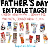FATHER'S DAY GRANDPARENTS GIFT TAGS PERSONALIZED EDITABLE MOTHER'S DAY