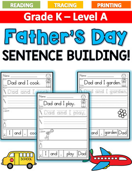 FATHER'S DAY Sentence Building LEVEL A