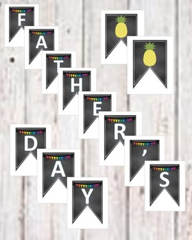 FATHER'S DAY - decorations- TROPICAL / BEACH theme