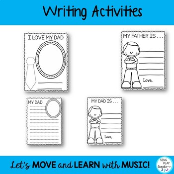 Father's or Dad's Day Song, Craftivity and Literacy Activities: {CCSS}