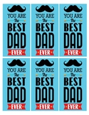 FATHERS DAY BOOKMARKS, BUNDLE 7 PAGES, 8 BOOKMARK TEMPLATE