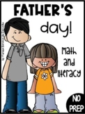 FATHER'S DAY - MATH & LITERACY - NO PREP (DISTANCE LEARNING)