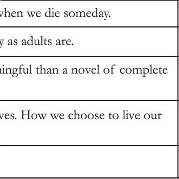 THE FAULT IN OUR STARS PreReading Bias