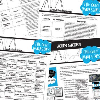 THE FAULT IN OUR STARS Unit - Novel Study Bundle (John Green) - Literature Guide
