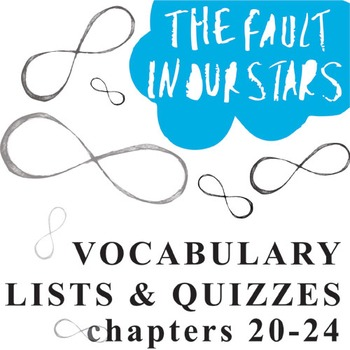 THE FAULT IN OUR STARS Vocabulary List and Quiz (chap 20-24)