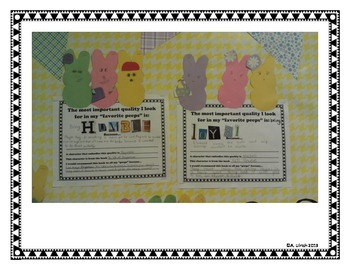 FAVORITE PEEPS Easter Bulletin Board