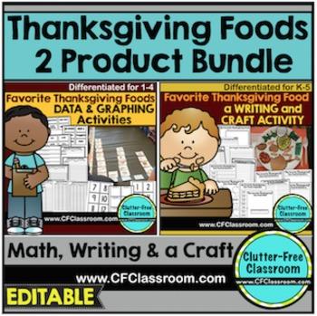 THANKSGIVING BUNDLE Math & Writing FAVORITE THANKSGIVING FOOD