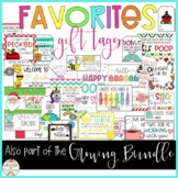 FAVORITES gift tags