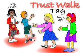 FAvrit Instant Activities - Trust Walk Tag
