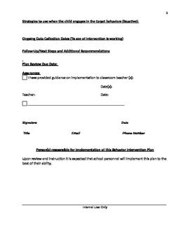 FBA and BIP Editable Template