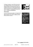 FC Train Speed