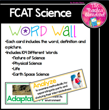 FCAT 2.0  Science Vocabulary Word Wall