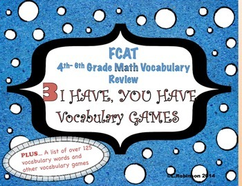 FCAT  4th-6th Math Review.. I Have, You Have Games
