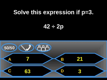 Algebraic Expressions Review