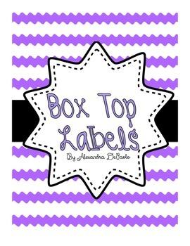 Box Top Labels
