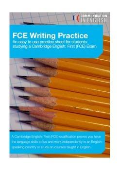 FCE Writing Practice
