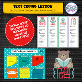 Launching Readers Workshop TEXT CODING