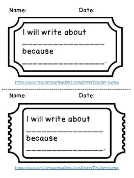 FCPS Building a Community of Writers CHOOSING AN ENTRY: Exit Ticket