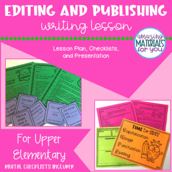 FCPS Building a Community of Writers EDITING and PUBLISHING
