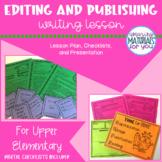 Writing Workshop | EDITING and PUBLISHING
