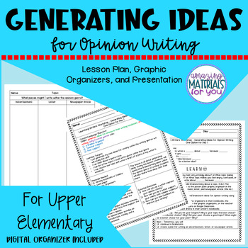 FCPS Building a Community of Writers IDEAS Option 1 Opinion