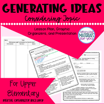 """Building a Community of Writers IDEAS Option 4 """"Same Topic Across Genres"""""""