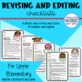 Writing Workshop | REVISING and EDITING Checklists