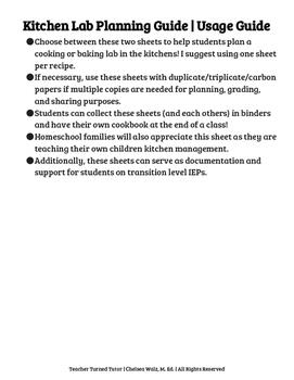 FCS: Kitchen Lab Planning Guide