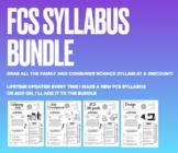 FCS Syllabus Bundle! Easy to edit in Google Slides - LIFET