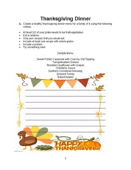 FCS Thanksgiving packet