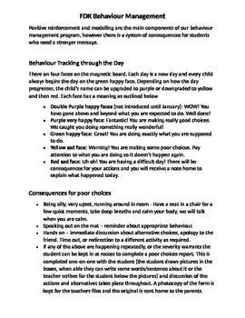 FDK Behaviour Management Program