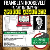 FDR A Day in Infamy Speech Analysis & Writing Activity Google