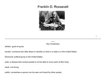 FDR- Differentiated Story