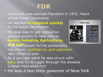 FDR Response to Great Depression