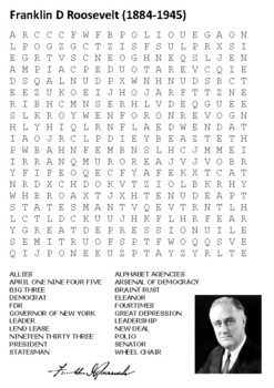 FDR Word Search