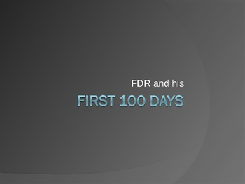 FDR and His 100 Days
