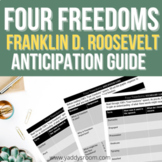 "FDR's ""Four Freedoms"" Speech Vocabulary and Anticipation Guide"