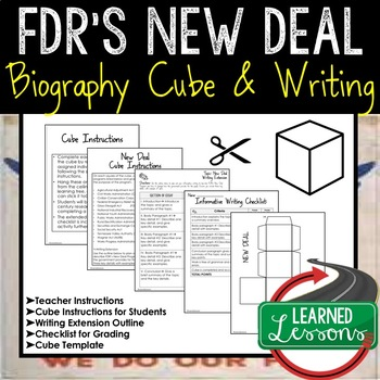 FDR's New Deal Activity Research Cubes (American History)