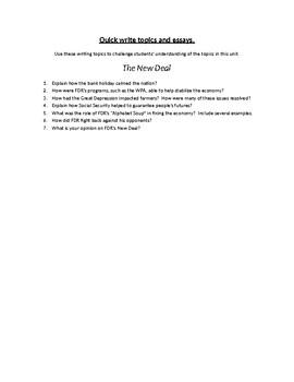 Fdr essay