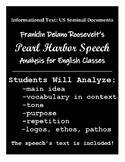 FDR's Pearl Harbor Speech: Analysis for English Classes, Informational Text