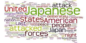 FDR's Day of Infamy Speech and Declaration of War Against Japan Visual Aid